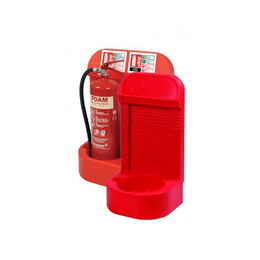Single or Double Moulded Extinguisher Stand With Recessed Base & Skirting Board Cut-out