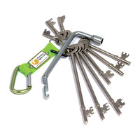 Fire Alarms, Fire Alarm Accessories, Fire Alarm Equipment Keys - Engineers Fire Brigade Keyring Set