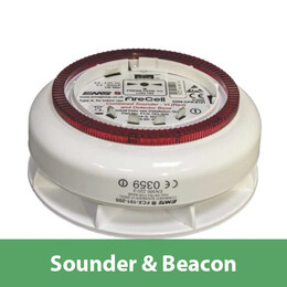 EMS Firecell Wireless Sounder Base with Optional Beacon