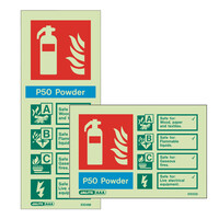 Fire Signs, Photoluminescent Extinguisher Signs - Photoluminescent P50 Power Extinguisher Sign