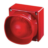 Fire Alarms, Sounders, Flashers & Bells, Fire Alarm Flashers, Addressable Flashers, Apollo XP95 Visual Beacons - Apollo 55000-298 Weatherproof Multi-Tone Open-Area Sounder Visual Indicator with Isolator (Red)