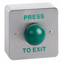 Security Equipment, Door Access Control, Standalone Door Access, Exit Switches & Call Points - STP-SPB004S Surface Green Dome Stainless Steel Exit Button