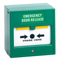 Security Equipment, Door Access Control, Standalone Door Access, Exit Switches & Call Points - STP CP22 Surface or Flush Double Pole Emergency Release Break Glass Unit