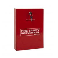 Fire Alarms, Fire Alarm Accessories, Document & Key Storage - Savex Slimline Document Holder with Key Lock