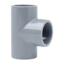 90 Degree Tee 27mm or 3/4 Inch Grey Aspirating Pipe Fitting