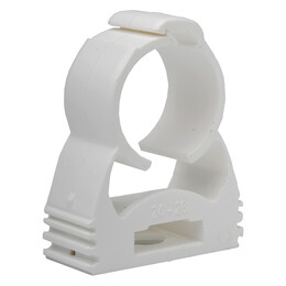 25mm or 3/4 Inch White Aspirating Pipe Clip