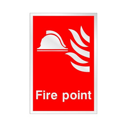 Prestige Fire Point Sign