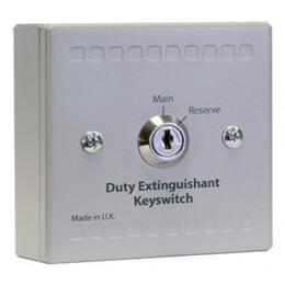 Kentec Main / Reserve Duty Extinguishant Key Switch Unit