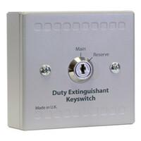 Fire Alarms, Automatic Extinguisher Systems, Kentec XT Extinguishing Control Systems, Sigma XT & XT+ Conventional Extinguishing Control System - Kentec Main / Reserve Duty Extinguishant Key Switch Unit