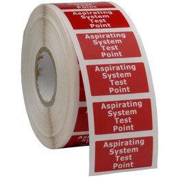Aspirating System Test Point Label, Roll of 100