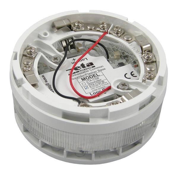 Sounder detector base for addressable
