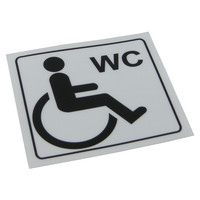 Disabled Toilet Sticker