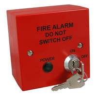 Fire Alarms, Fire Alarm Accessories, Switches & Push Buttons - Fire Alarm Mains Safety Isolator Switch