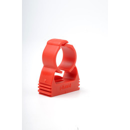 "Red 25mm x 3/4"" Pipe Clip (Box of 500)"