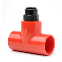 Fire Alarms, Fire Alarm Detectors, Aspirating Smoke Detection, Aspirating Pipe & Fittings, 25mm Aspirating Pipe & Fittings, Fittings - 25mm/10mm Red Capillary Tee