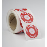 "Fire Alarms, Fire Alarm Detectors, Aspirating Smoke Detection, Aspirating Pipe & Fittings, 27mm (3/4"") Aspirating Pipe & Fittings, Accessories - Air Sampling Labels 23mm / 4mm Hole (100 Per Roll)"