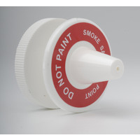 "Fire Alarms, Fire Alarm Detectors, Aspirating Smoke Detection, Aspirating Pipe & Fittings, 27mm (3/4"") Aspirating Pipe & Fittings, Accessories - Conical Air Sampling Point (White with Label)"