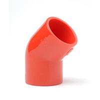 Fire Alarms, Fire Alarm Detectors, Aspirating Smoke Detection, Aspirating Pipe & Fittings, 25mm Aspirating Pipe & Fittings, Fittings - Plain Red ABS 25mm 45 Degree Elbow