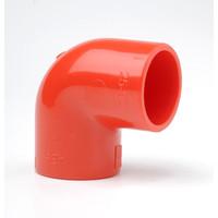 Fire Alarms, Fire Alarm Detectors, Aspirating Smoke Detection, Aspirating Pipe & Fittings, 25mm Aspirating Pipe & Fittings, Fittings - Plain Red ABS 25mm 90 Degree Elbow