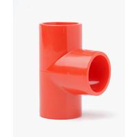 Fire Alarms, Fire Alarm Detectors, Aspirating Smoke Detection, Aspirating Pipe & Fittings, 25mm Aspirating Pipe & Fittings, Fittings - Plain Red ABS 25mm 90 Degree Tee
