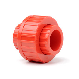 "Plain Red ABS 3/4"" (27mm) Union"