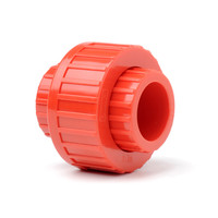 "Fire Alarms, Fire Alarm Detectors, Aspirating Smoke Detection, Aspirating Pipe & Fittings, 27mm (3/4"") Aspirating Pipe & Fittings, Fittings - Plain Red ABS 3/4"" (27mm) Union"