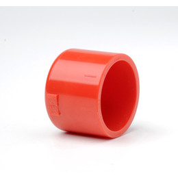 "Plain Red ABS 3/4"" (27mm) Cap"
