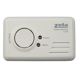 Zeta Domestic LED Carbon Monoxide Alarm (Includes 1 Year Battery)