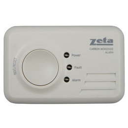 Zeta Domestic LED Carbon Monoxide Alarm (7 Year Sealed for Life)
