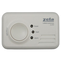 Fire Alarms, Domestic Smoke, Heat & CO Alarms, Battery CO Alarms - Zeta Domestic LED Carbon Monoxide Alarm (7 Year Sealed for Life)