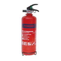 Fire Extinguishers & Blankets, Powder Fire Extinguishers - 2kg Dry Powder Fire Extinguisher