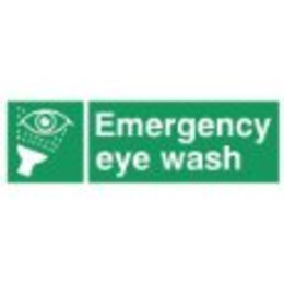 Eye Wash Station Sign (300x100mm Rigid)