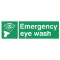 Fire Signs, First Aid Signs - Eye Wash Station Sign (300x100mm Rigid)