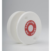 "Fire Alarms, Fire Alarm Detectors, Aspirating Smoke Detection, Aspirating Pipe & Fittings, 27mm (3/4"") Aspirating Pipe & Fittings, Accessories - Flush Air Sampling Point (White with Label)"