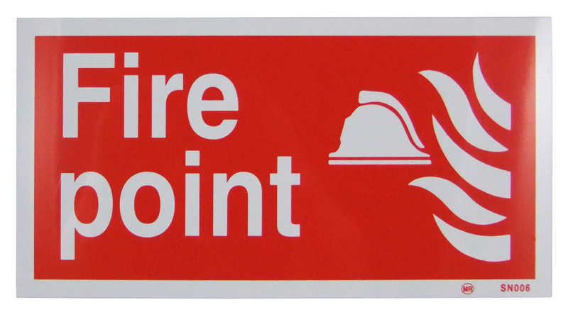 Fire point sign 300x150 rigid discount fire supplies