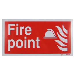 Fire Point Sign (300x150 Rigid)