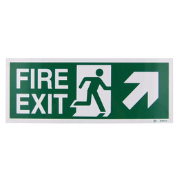 Fire Exit Arrow Up/Right Sign (400x150mm Rigid)